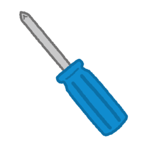 工具のイラスト(プラスドライバー)
