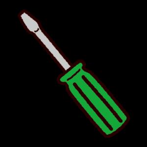 工具のイラスト(マイナスドライバー)