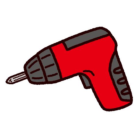 工具のイラスト(電動ドライバー)