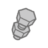 工具のイラスト(ボルト・ナット)