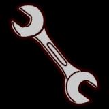 工具のイラスト(スパナ)