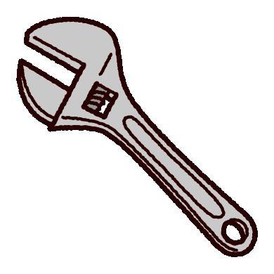 工具のイラスト(モンキーレンチ)