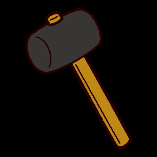 工具のイラスト(ゴムハンマー)
