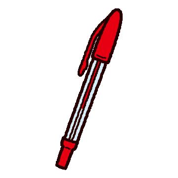 ボールペンのイラスト(キャップ式)