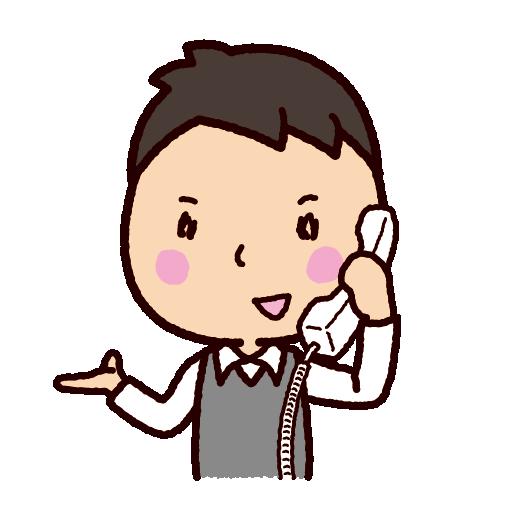 電話をする男性のイラスト