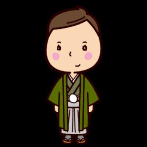 晴れ着のイラスト(男性・成人式)