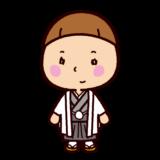 晴れ着のイラスト(男の子・成人式・七五三)
