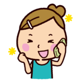 楽しそうに電話をする女の子のイラスト