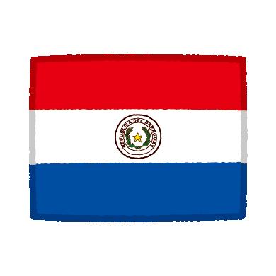 国旗のイラスト(パラグアイ)