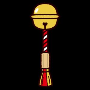 神社の鈴のイラスト
