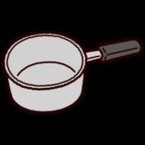 片手鍋のイラスト