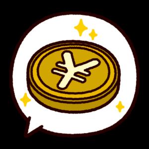 吹き出しのイラスト(円マーク)