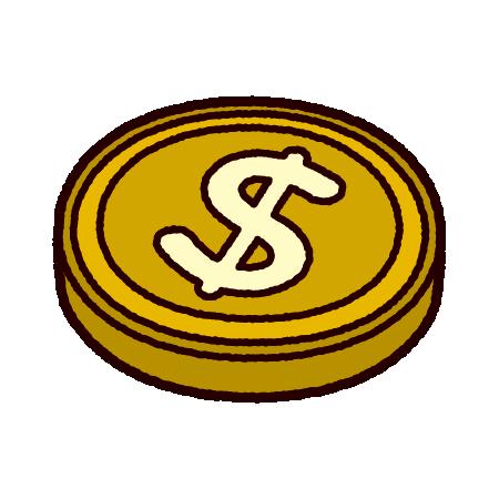 ドルマークのイラスト(通貨)