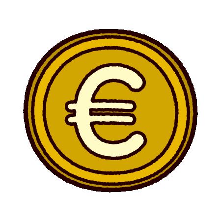 ユーロマークのイラスト(通貨)