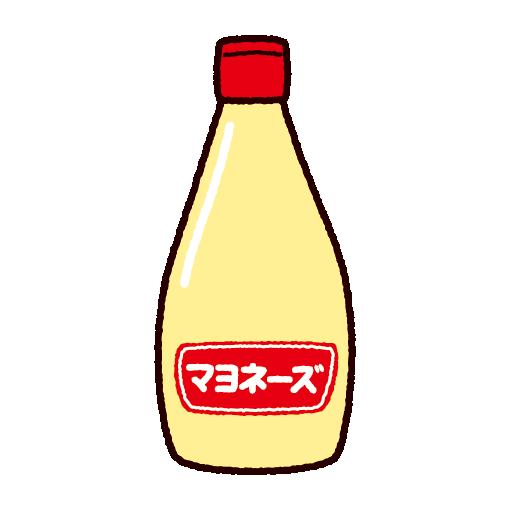 マヨネーズのイラスト(調味料)