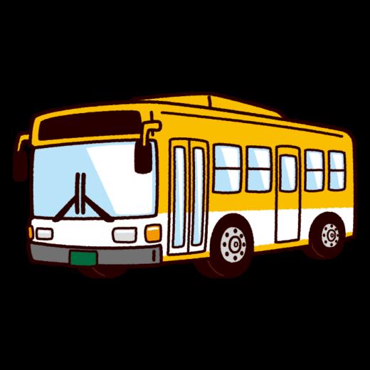 バスのイラスト(路線バス・スクールバス)(8カット)