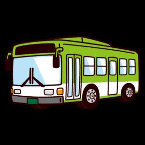 バスのイラスト(路線バス・スクールバス)