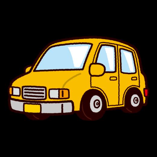 車のイラスト(小型車・軽自動車)(8カット)