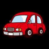 かわいい車のイラスト(小型車)