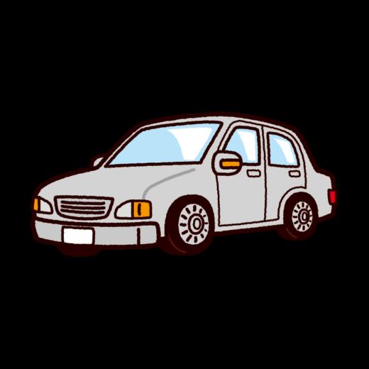 車のイラスト(セダンタイプ・普通車)(8カット)