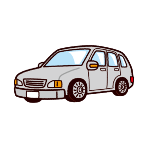 車のイラスト(ステーションワゴン)