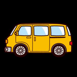 車のイラスト(ミニバン・ワンボックス)