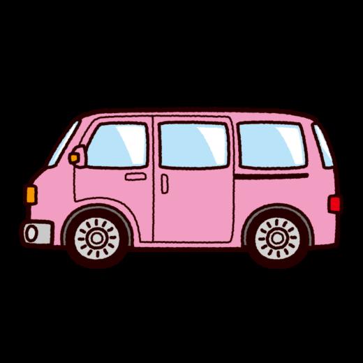 車のイラスト(ミニバン・ワンボックス)(8カット)