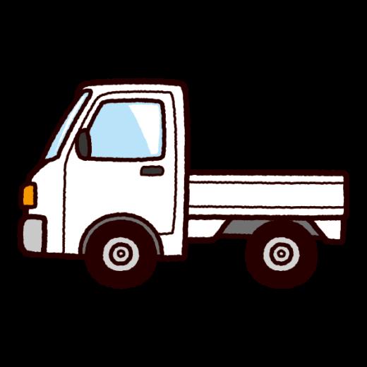 車のイラスト(軽トラック)(4カット)