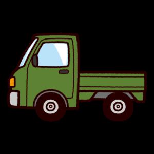 車のイラスト(軽トラック)