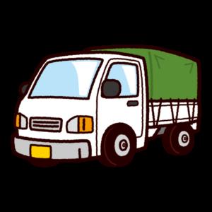 車のイラスト(幌付き軽トラック)