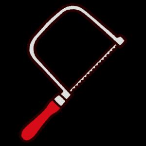 工具のイラスト(糸鋸・ノコギリ)