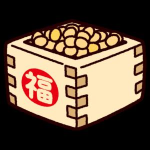 節分のイラスト(豆まき・福豆)