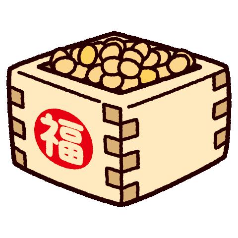 節分のイラスト(豆まき・福豆)(4カット)