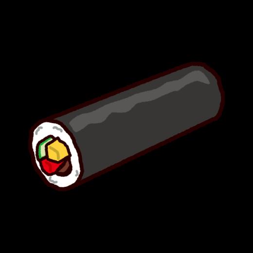恵方巻きのイラスト(節分・巻き寿司)(2カット)