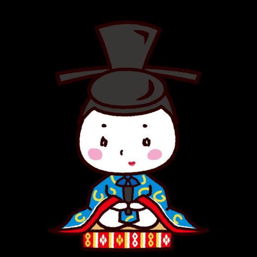 雛人形のイラスト(お内裏様・男雛・ひな祭り)(3カット)