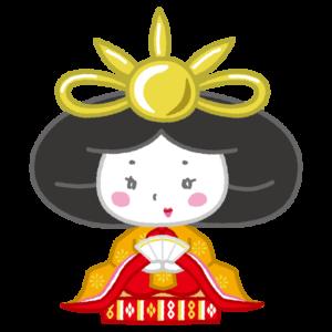 雛人形のイラスト(お雛様・女雛・ひな祭り)