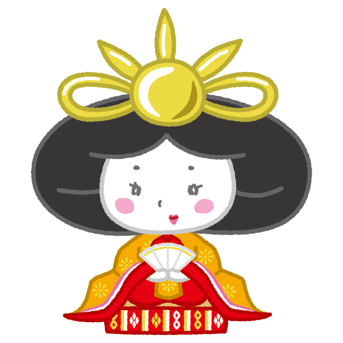 雛人形のイラストお雛様女雛ひな祭り3カット イラストくん