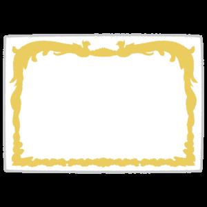 賞状のフレームのイラスト