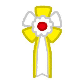 胸章リボンのイラスト(無地)