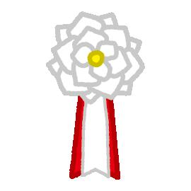 胸章リボンのイラスト(無地)(10カット)