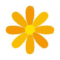黄色い花のイラスト(8カット)