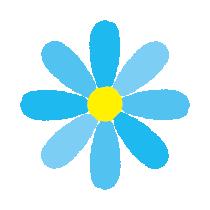 青い花のイラスト