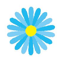 青い花のイラスト(8カット)