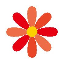 赤い花のイラスト(8カット)