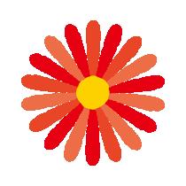 赤い花のイラスト