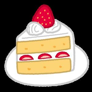 イチゴのショートケーキのイラスト