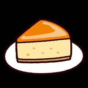 スフレチーズケーキのイラスト
