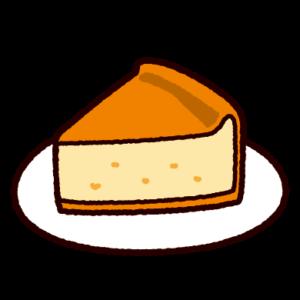 ベイクドチーズケーキのイラスト