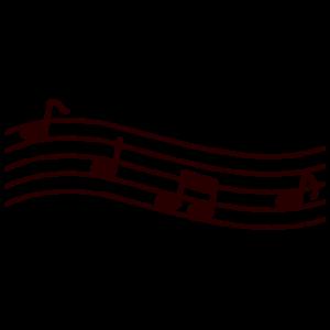 五線譜と音符のイラスト