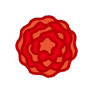 かわいい紙花のイラスト